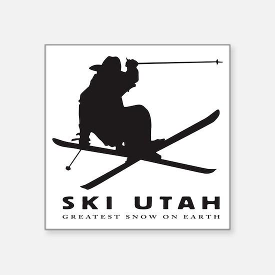"""Ski Utah Square Sticker 3"""" x 3"""""""
