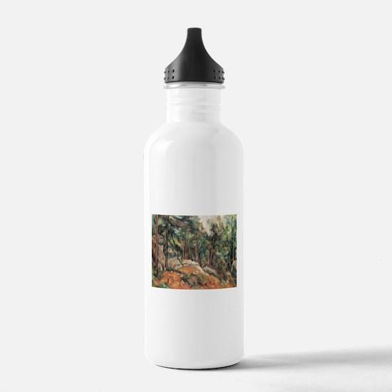 In the Forest - Paul Cezanne - c1898 Water Bottle