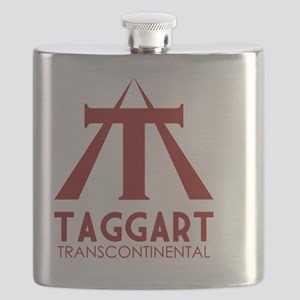 Taggart Transcontinental Red Flask