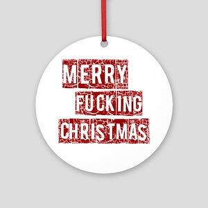 christmas10dis Round Ornament