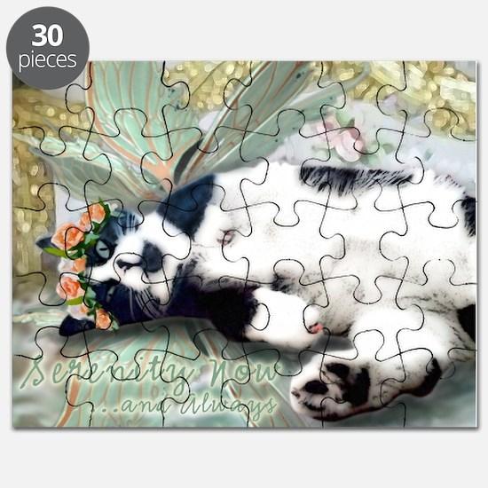 Tuxedo Cat Fairy Tile Puzzle