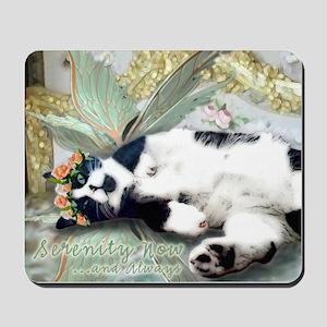 Tuxedo Cat Fairy Tile Mousepad