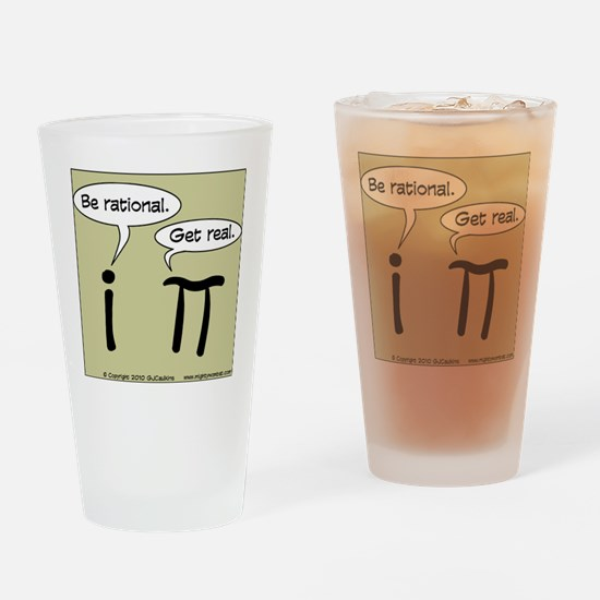 pi vs i Drinking Glass