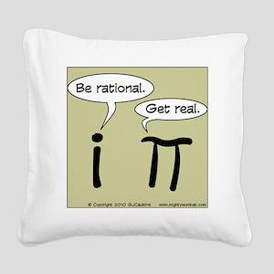 pi vs i Square Canvas Pillow