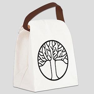 Oakland Pride Tree black RepOakla Canvas Lunch Bag