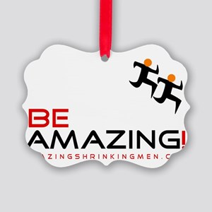 be amazing coffee black red Picture Ornament