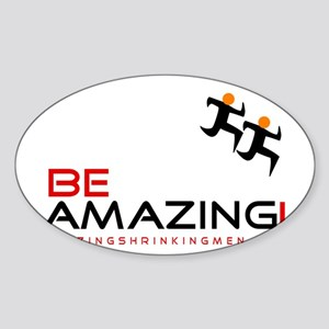 be amazing coffee black red Sticker (Oval)