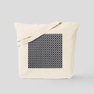 Flower Dot Black Tote Bag