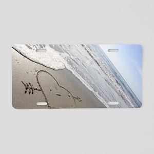 Beachwrites Heart Aluminum License Plate