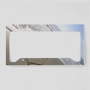 Beachwrites Heart License Plate Holder