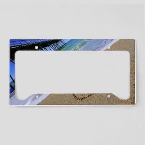 Peace by Beachwrite License Plate Holder