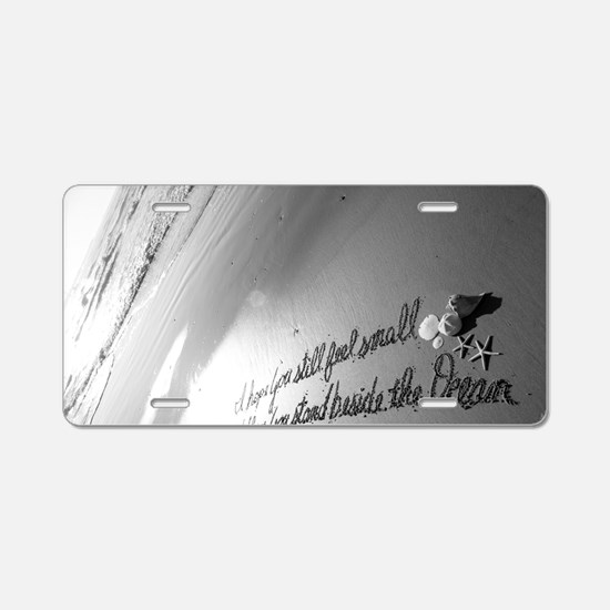 Feel Small by Beachwrite Aluminum License Plate
