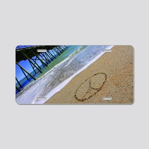 Peace by Beachwrite Aluminum License Plate