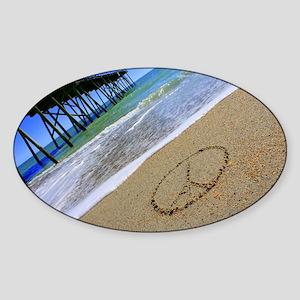 Peace by Beachwrite Sticker (Oval)