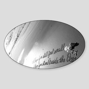 Feel Small by Beachwrite Sticker (Oval)