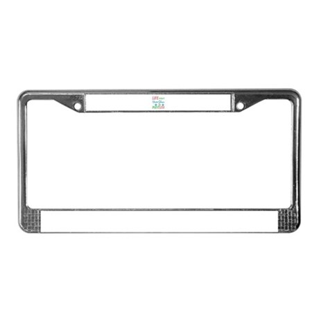 Life without Miniature Schnauz License Plate Frame