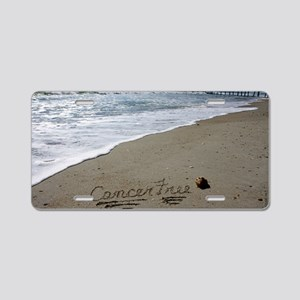 Cancer Free by Beachwrite Aluminum License Plate