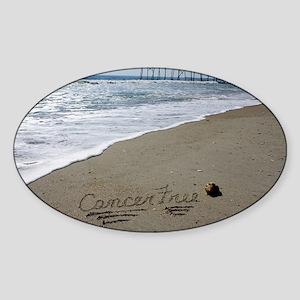 Cancer Free by Beachwrite Sticker (Oval)