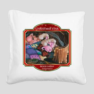 Good Night - Christmas Star Square Canvas Pillow