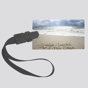Twinkle Little Star by Beachwrit Large Luggage Tag
