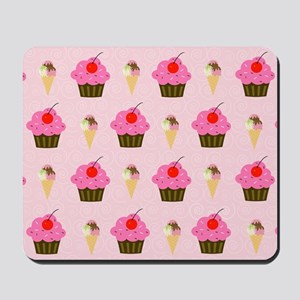Cupcakes and Ice Cream Laptop Skin Mousepad