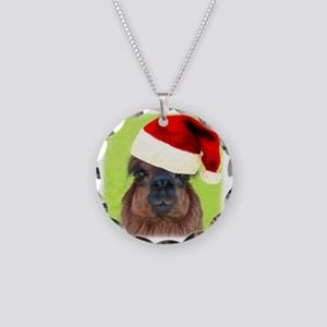 Jamma-Christmas Necklace Circle Charm