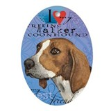 Coonhound Oval Ornaments