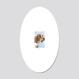 TreeWalker-key2 back 20x12 Oval Wall Decal