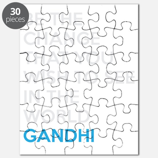 Ghandi Be The Change Quote Puzzle