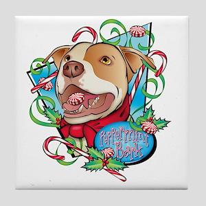 Peppermint Bark Tile Coaster