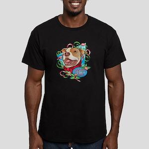 Peppermint Bark Men's Fitted T-Shirt (dark)