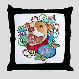 Peppermint Bark Throw Pillow