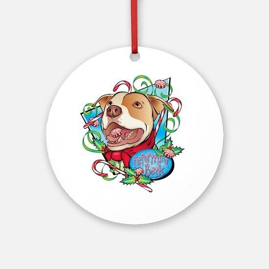 Peppermint Bark Round Ornament