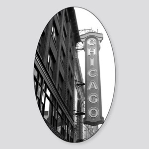 Chicago Theater Sticker (Oval)