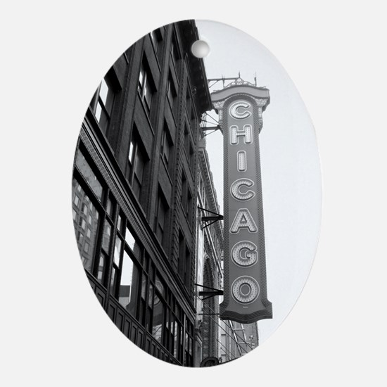 Chicago Theater Oval Ornament