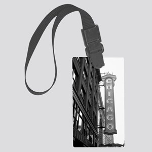 Chicago Theater Large Luggage Tag