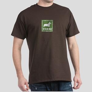 Rustic Corgi Dark T-Shirt