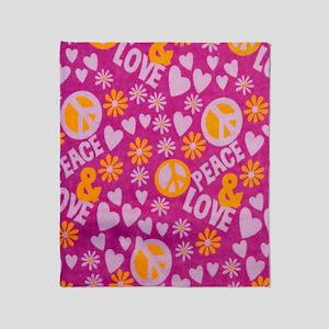 Hippie Love Throw Blanket