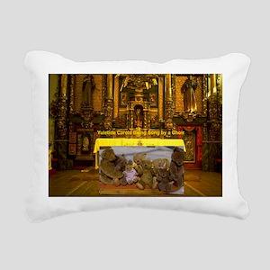 Yuletide Carols being su Rectangular Canvas Pillow
