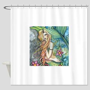 Fresh Water Mermaid cp square Shower Curtain