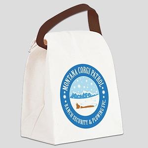 Corgi-Patrol Canvas Lunch Bag