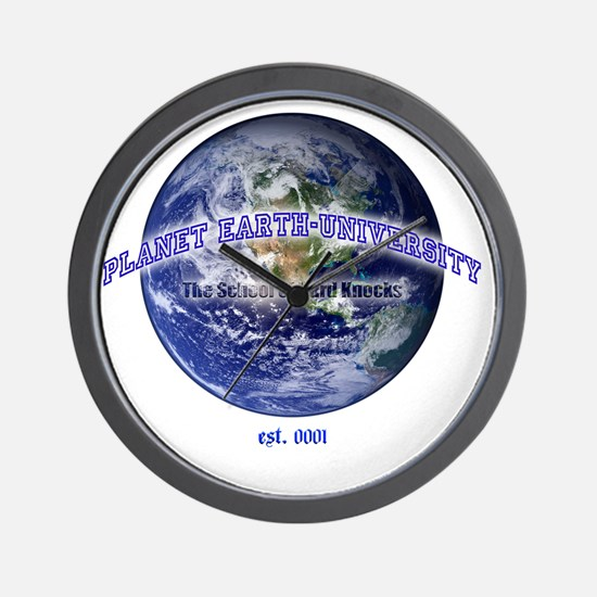 planet earth u Wall Clock