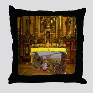 Yuletide Carols being sung by a Choir Throw Pillow