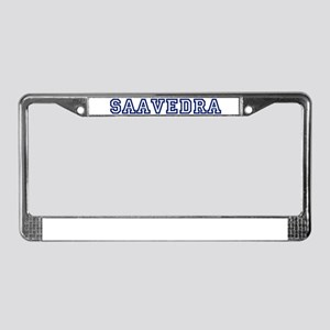 SAAVEDRA University License Plate Frame
