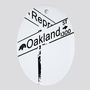 Street sign take 2 Oval Ornament