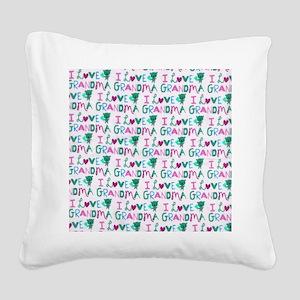 I Love Grandma copyyyy Square Canvas Pillow