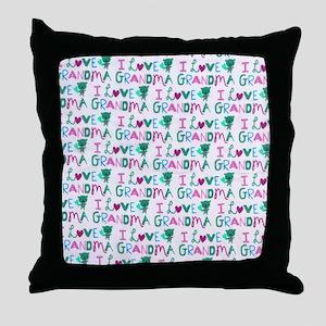 I Love Grandma copyyyy Throw Pillow