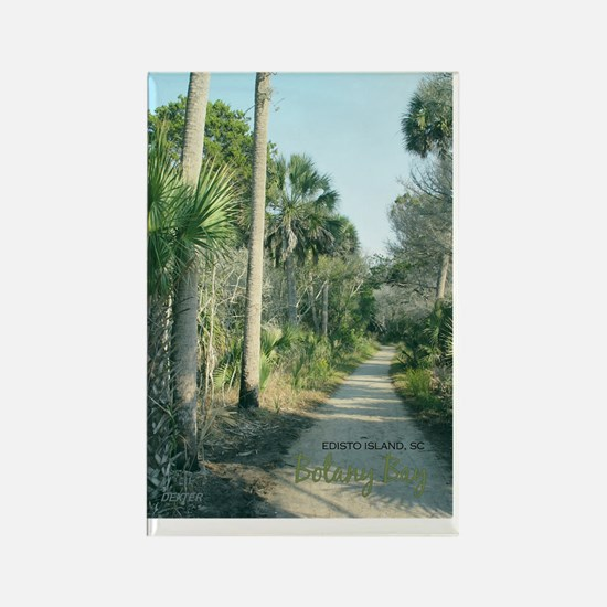edisto postcard botany path Rectangle Magnet