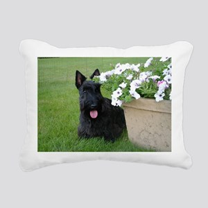 DuganPetunias Rectangular Canvas Pillow