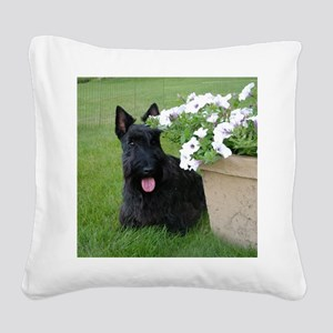 DuganPetunias Square Canvas Pillow